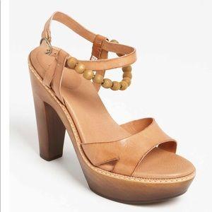 Ugg Australia Naima Tan Beaded Platform Sandals